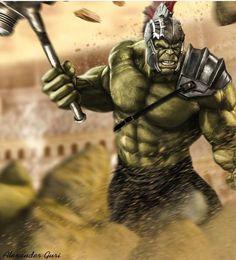Gladiator Hulk (Thor Ragnarok) by on DeviantArt Epic Characters, Comic Book Characters, Comic Books Art, Fantasy Characters, Comic Art, World War Hulk, Planet Hulk, Hulk Avengers, Hulk Marvel