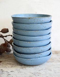 Handmade Duck Egg Blue Bowls | susansimonini on Etsy
