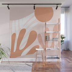 Baked Earth Landscape Wall Mural by cafelab Mural Wall Art, Landscape Walls, Cool Walls, Country Decor, Home Interior Design, Interior Inspiration, Bedroom Decor, Bedroom Wall Designs, Lounge