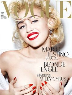 #MileyCyrus covers March 2014 #Vogue Germany. See what she's not wearing...