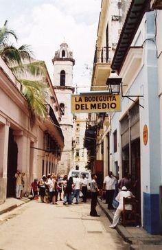 Famous La Bodeguita del Medio on Empedrado Street in Habana Vieja.
