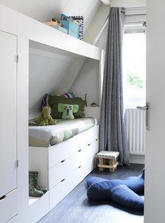 Gravity Interior in 2020 Attic Bedroom Kids, Attic Rooms, Bedroom Decor, Attic Bathroom, Sewing Room Storage, E Room, Attic Renovation, Attic Remodel, Home And Deco