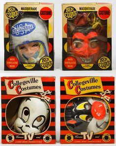Lot 325: Ben Cooper and Collegeville Halloween Costume Assortment; Four boxed costumes including Sylvester, Casper the Friendly Ghost, the Devil and an Astronaut