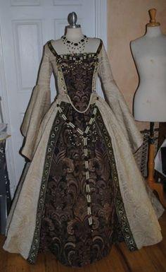 Custom Medieval Tudor Renaissance Gown Wedding by RomanticThreads, $1450.00