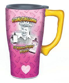 I Love Lucy 'Vitameatavegamin' 14-oz. Travel Mug