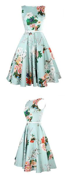 Women's Party Vintage A Line Floral Print Dress