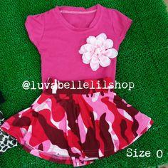 Gorgeous Red Army Skater Skirt for Kids