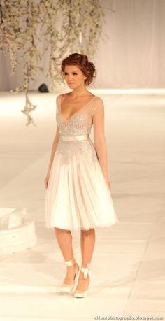 rehearsal wedding fun young white dress silver rhinestones vneck low cut sleeveless