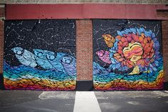 Pau Quintanajornet painted the beautiful mural on the north side of the Casino building on the #AsburyPark #Boardwalk #mural #muralart #jerseyshore #art #NJ #WeirdNJ #AsburyParkNow