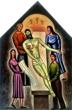Station 14: Jesus Is Buried. Artist James B. Janknegt
