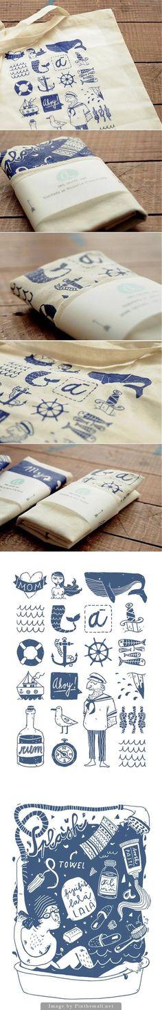 love the illustrations Design Web, Sacs Design, Brand Packaging, Packaging Design, Branding Design, Diy Tote Bag, Illustration, Cotton Bag, Identity