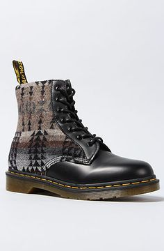 The Pendleton x Dr. Marten Boot in Black by Dr. Martens oh I would die for a pair Dr. Martens, Doc Martens Boots, Workwear Fashion, Mens Fashion, Fashion Menswear, Sock Shoes, Shoe Boots, Women's Shoes, Italian Shoes