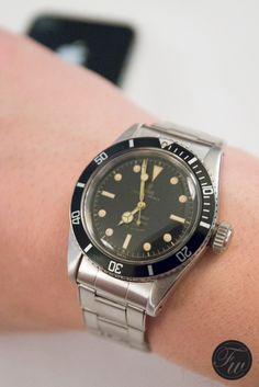 FratelloWatches: Tudor Oyster Prince Submariner Reference 7924 Big Crown From 1958