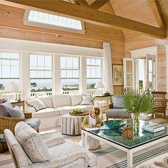 Subtle Statement - Beach Style: Poolside Preppy Interiors - Coastal Living