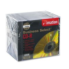 imation® - Business Select CD-R Discs, 700MB/80min, 52x, Jewel Cases, Gold, 10/Pack - Sold As 1 Pack - Scratch resistant surface. by imation Products. $13.99. imation® - Business Select CD-R Discs, 700MB/80min, 52x, Jewel Cases, Gold, 10/PackScratch-resistant surface offers data protection and maximum durability. Distinctive gold surface adds a professional touch. Imation® Certified-tested and inspected against Imation's stringent error rate and specification standards. Perm...