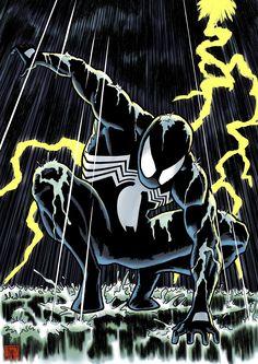 Marvel and DC Comics Images, Memes, Wallpaper and Spiderman Black Suit, Spiderman Art, Amazing Spiderman, Marvel Venom, Marvel Art, Marvel Heroes, Dark Drawings, Cartoon Drawings, Comic Books Art