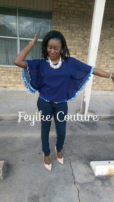 African Clothing tunique en mousseline de soie par FeyikeCouture