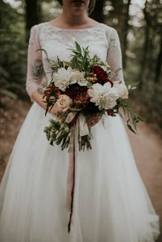Lush autumn wedding bouquet  | Image by Olivia Strohm Photography