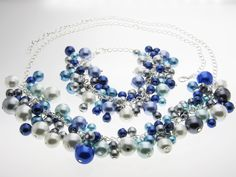 Ball formal necklace and bracelet