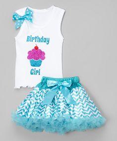 Teal 'Birthday Girl' Tank & Pettiskirt - Infant, Toddler & Girls by So Girly & Twirly #zulily #zulilyfinds