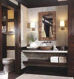 Tropical-Style Bathroom Vanity