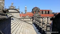 As we rounded the apse and headed north on the roof of the Cathedral of Santiago de Compostela, this view of the Seminario Mayor came into focus. It is a former monastery and present day hotel for pilgrims.