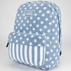 VANS Denim Star Realm Backpack ($38) ❤ liked on Polyvore