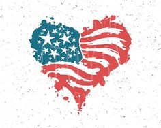Flag Art, Cricut Craft Room, Rock Painting Designs, Heart Art, Independence Day, Fourth Of July, Painted Rocks, Overlays, Vinyl Decals