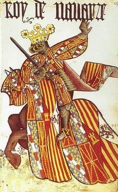 JIMENO GARCÉS of Pamplona Son of Sancho Jimenez of Pamplona and Dadildis de Paillars. Medieval Costume, Medieval Art, Pamplona, Friedrich Ii, Legend Of King, Medieval Paintings, Landsknecht, Arsenal, Medieval Clothing