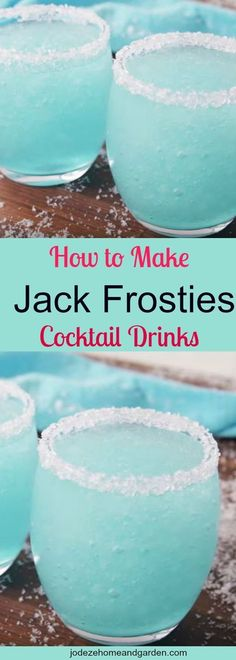 How to Make Jack Frosties Cocktail Drink | Jodeze Home and Garden