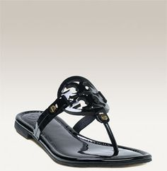 Tory Burch 'Miller' Logo Thong | Nordstrom, I guess I have a thing for black shoes