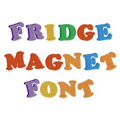 Styles Embroidery Font: Fridge Magnet Font from Embroidery Patterns Embroidery Fonts, Embroidery Patterns, Word Fonts, Brand Fonts, 26 Letters, Free Cartoons, Typography, Lettering, Free Design