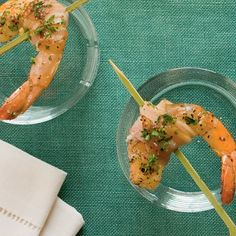Peppered Pancetta-Wrapped Shrimp - Best Party Appetizer Recipes - Coastal Living