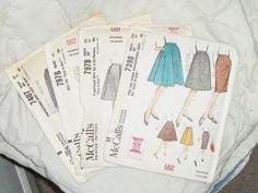 Patterns McCalls for Skirts size 2526 waist Hip 3436 by HalosHome, $7.20