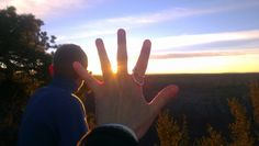 Son, sunset, shapes and silver from Pima point in Grand Canyon