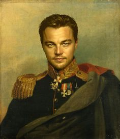 Haha! Sean will not like this. Leonardo Dicaprio - replaceface Art Print