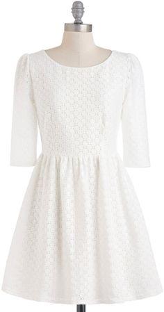 Modcloth White Isnt It Iconic Dress