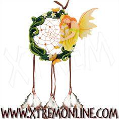Atrapa sueños con hada, mariposas y flores XT3682. Decoración gótica, alternativa y fantástica: hadas, dragones, calaveras, ángeles. Visitanos!