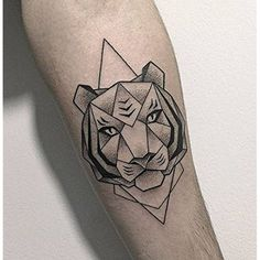 38837961787e1 Set of 2 Waterproof Temporary Fake Tattoo Stickers Cool Geometric Grey  Tiger Animals Design Body Art Make Up Tools ** Want additional info?