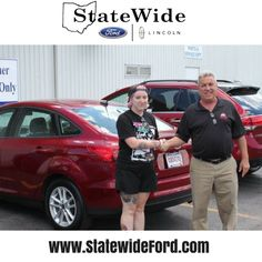Kirsten Barnhart taking delivery of her Ford Focus from Kurt Schalois. Thank you for your business!