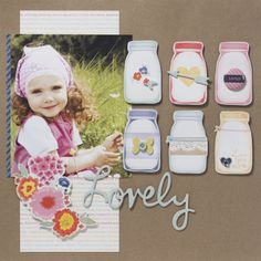 Layout from our Dear Lizzy Lucky Charm Collection