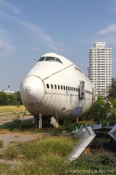 One of the city's most unique and fascinating attractions remains off many people's radar – Bangkok's airplane graveyard. Find out how you can go visit this place. Things to do in Bangkok, Places to visit in Thailand, Urban Exploration, Asia Travel, Thailand Travel, Abandoned Places, Trip Planning, Bangkok, Airplane, Travel Inspiration, Traveling By Yourself