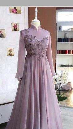 Hijab Evening Dress, Hijab Dress Party, Hijab Style Dress, Evening Dresses, Muslimah Wedding Dress, Muslim Wedding Dresses, Muslim Dress, Elegant Dresses, Pretty Dresses