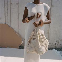Lauren Manoogian SS18 // hand crochet bag