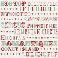 My Favourite Circus Fonts | Magic Jelly Blog