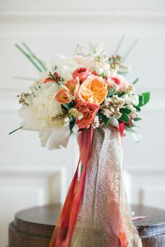 Wedding bouquet by Kate's Blossoms Photo by Sabine Scherer