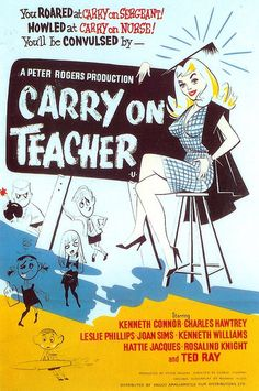 Carry On Teacher, vintage movie poster