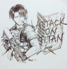 Levi Ackerman_Attack on Titan_Shingeki no kyojin Eren E Levi, Attack On Titan Anime, Levi Ackerman, Fan Anime, Anime Guys, Steven Universe, Chinese Cartoon, Eruri, Art Drawings