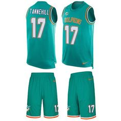807dbf4959c Nike Dolphins  17 Ryan Tannehill Aqua Green Team Color Men s Stitched NFL  Limited Tank Top