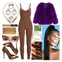 """""""Queen"""" by goodgirldeja ❤ liked on Polyvore featuring Rebecca, Puma, Giuseppe Zanotti, Maison Margiela, NARS Cosmetics, Balmain and Moutton colleT"""